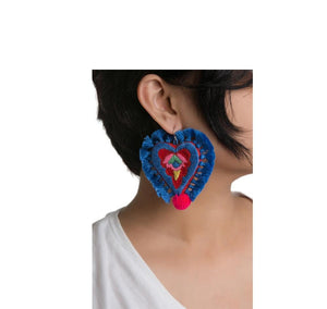Mahin Hussain - Heart Earring From Umerkot