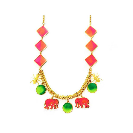 Red Dot Jewels - Hathi Cheethi Necklace