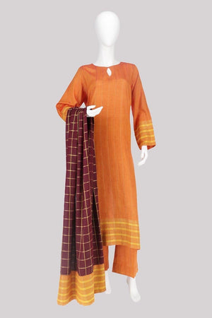 Waqar J Khan - Pumpkin Spice Design - 3 PC