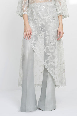 Sania Maskatiya - Plain Raw Silk Palazzo Pants