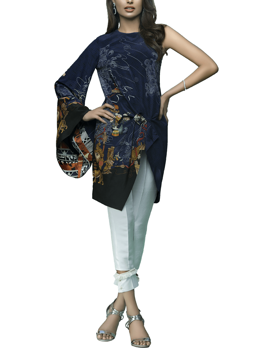 Sania Maskatiya - Ruffle Cut Digitally Printed Crepe Top
