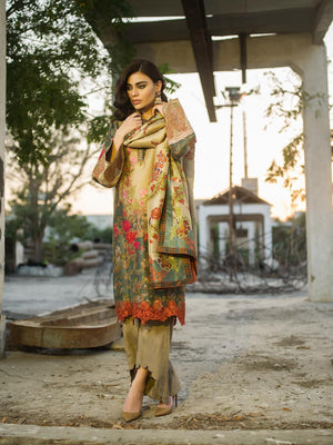 Shamaeel - Digitally Printed Silk Tunic - M8