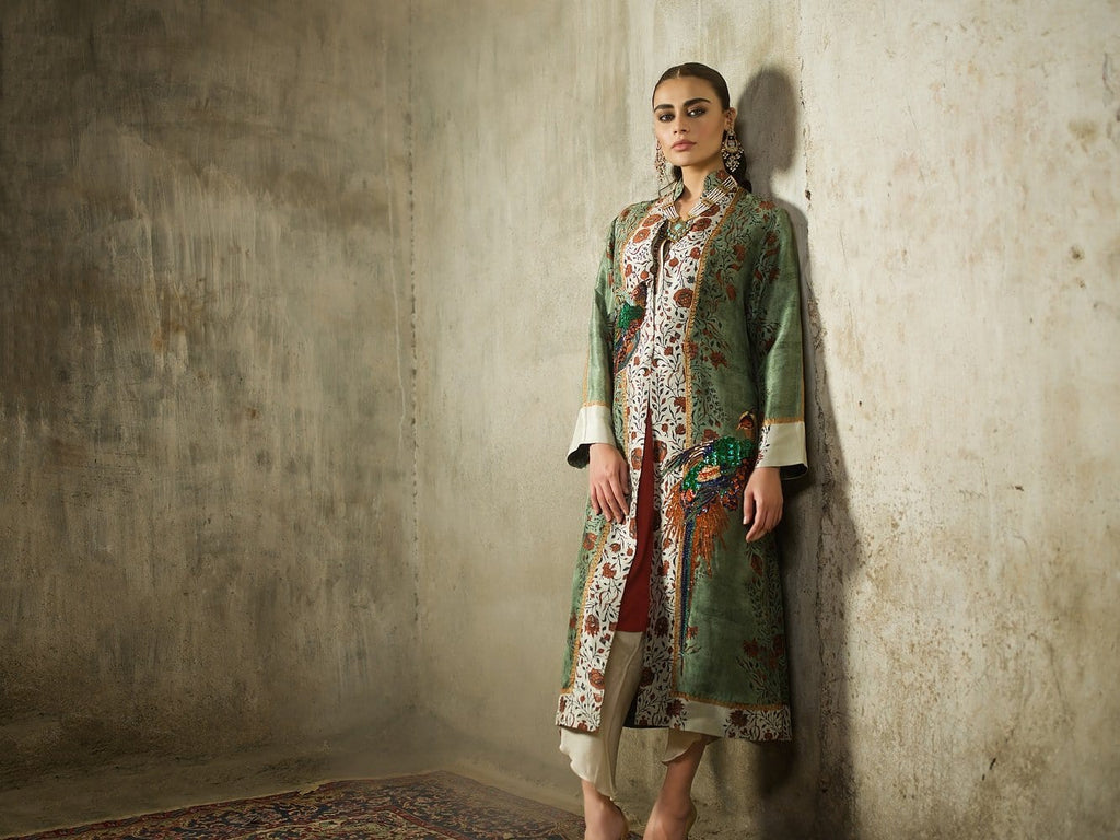 Shamaeel - Silk Coat with Inner
