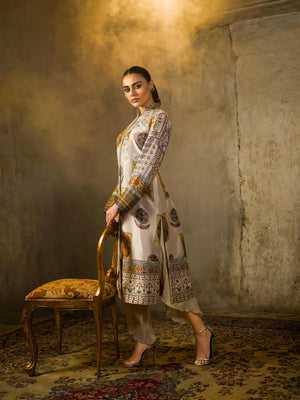 Shamaeel - Digitally Printed Sherwani Cut - M9