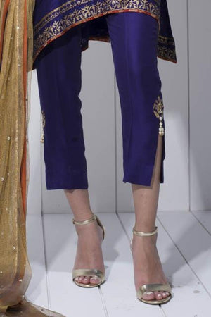 Sania Maskatiya - Raw Silk Pants With Side Slits
