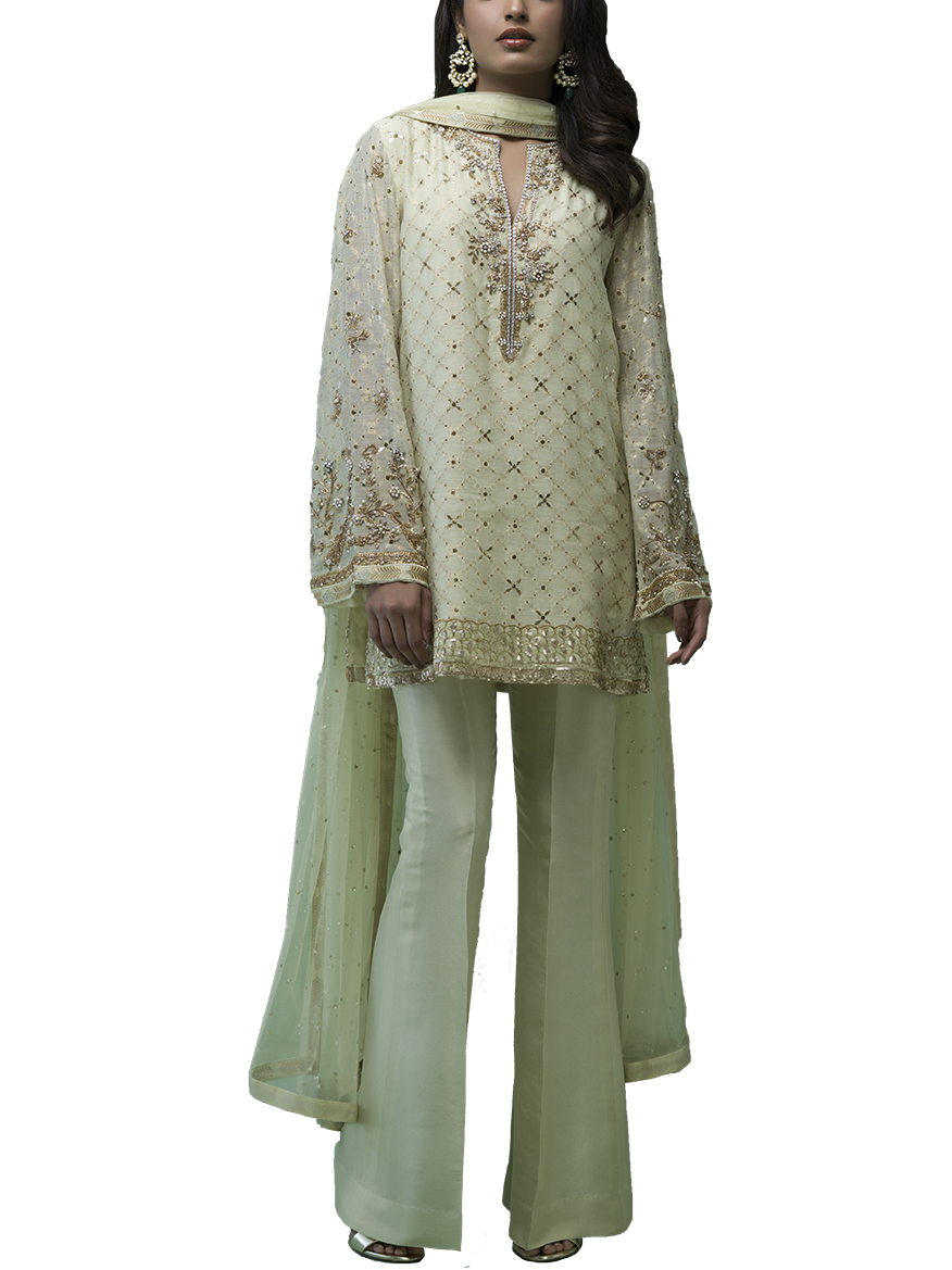 Sania Maskatiya - Cotton Net Kamdani Shirt