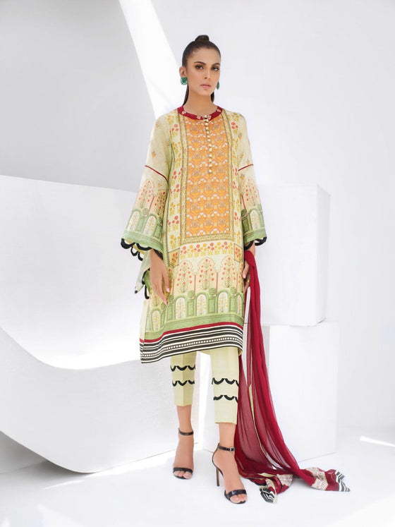 Sania Maskatiya - Cotton Net Digital Printed Long Kurta