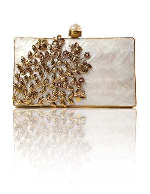 Hermosa - Florencia Gold Clutch