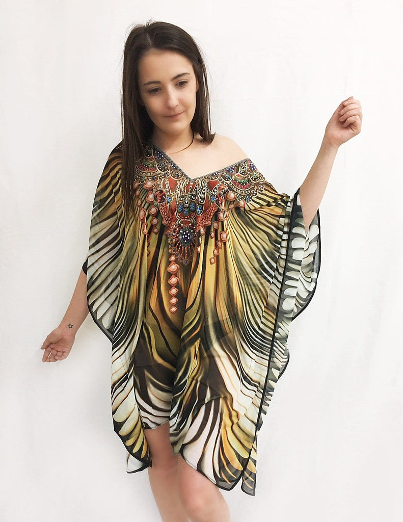 Amishi - Tribal Stripe Kaftan