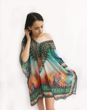 Amishi - Colour Check Kaftan