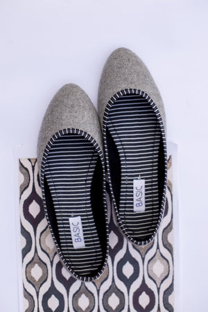 Basic - Grey Loafers - B19-37