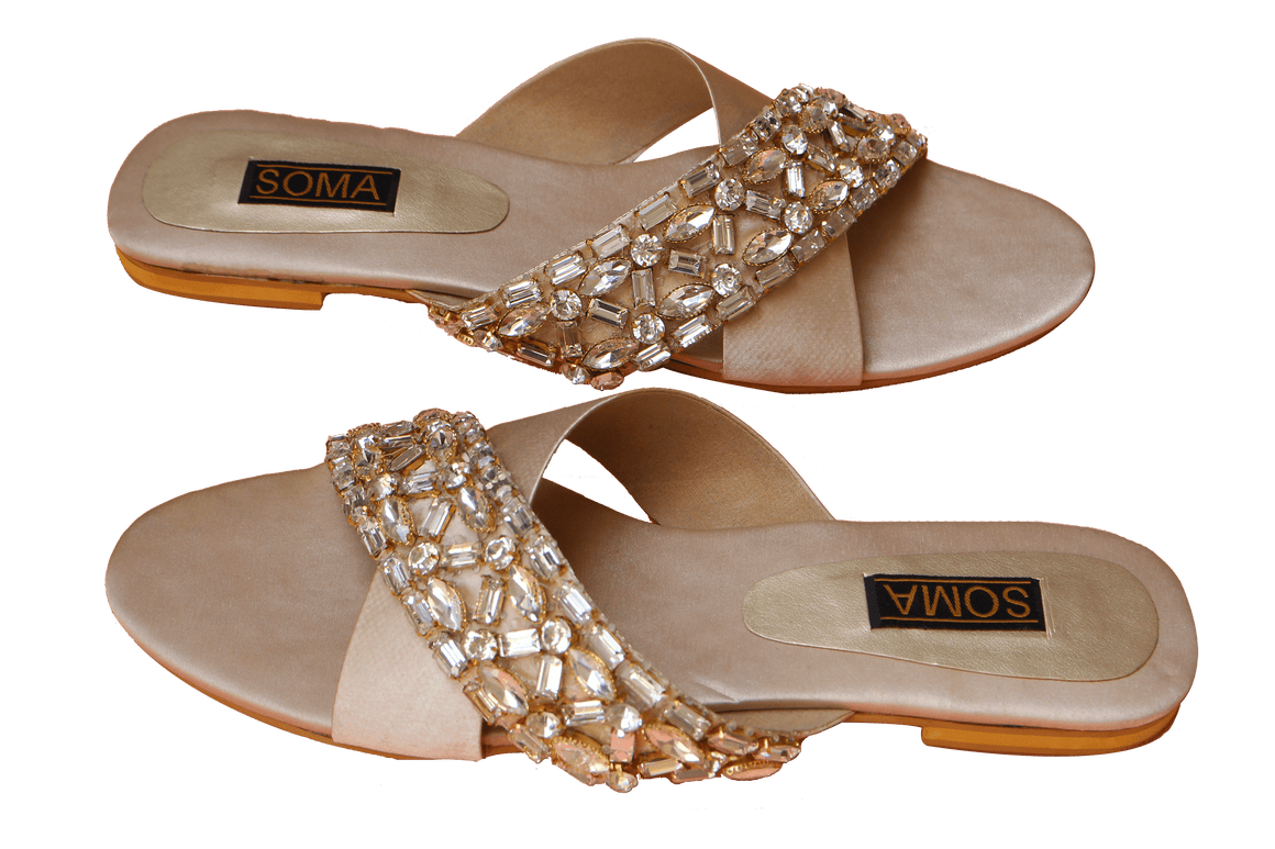 Soma - Light Golden Moon Dust Cross Over Hand Crafted Footwear
