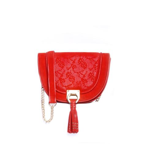 Julke - Poppy Red Halfmoon Bag