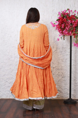 PinkTree - Orange Dress - Sitara Collection