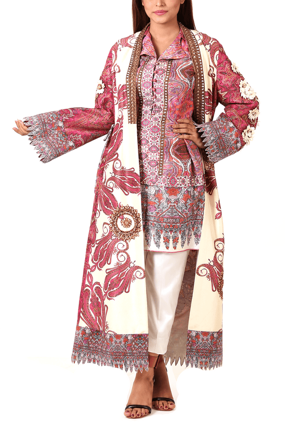 Shamaeel - Embroidered Raw Silk Jacket With Inner