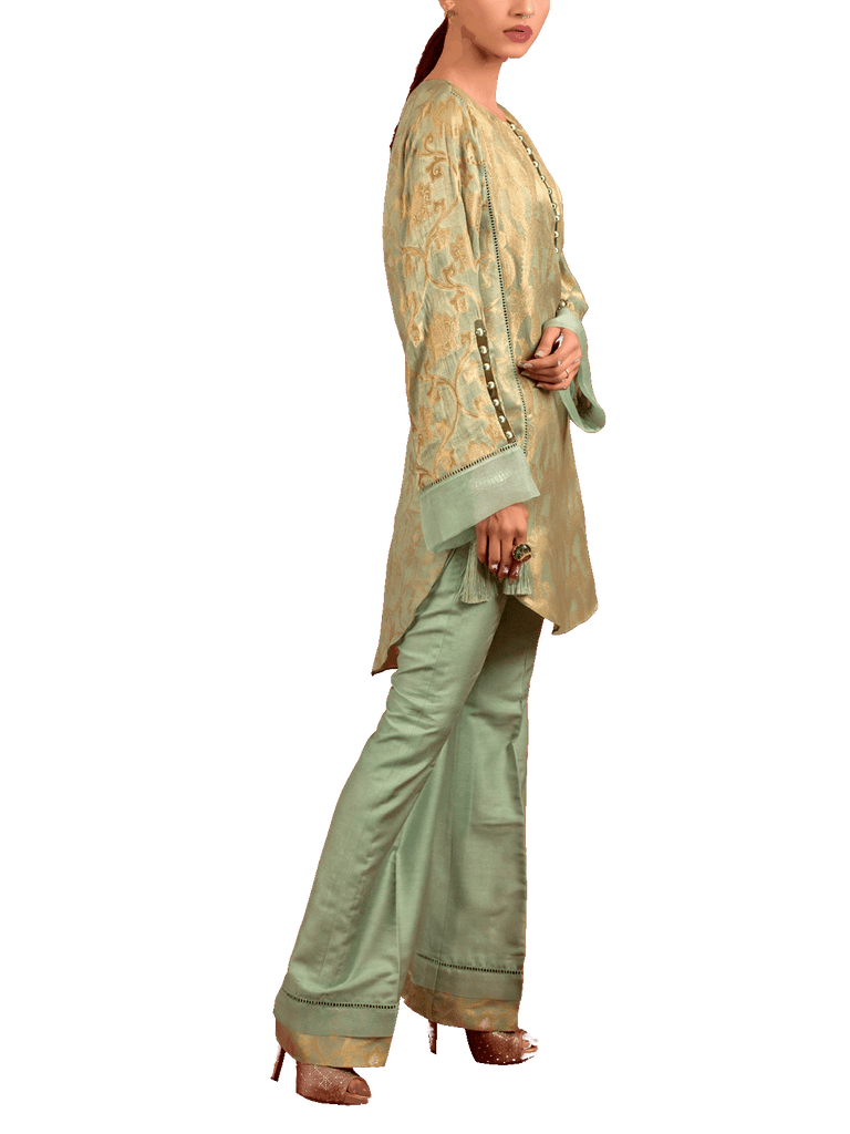 Tena Durrani - Green Jolie Two Piece Organza Suit