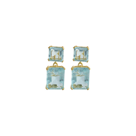 Amishi - Demmy Blue Gold Plated Demmy Earrings