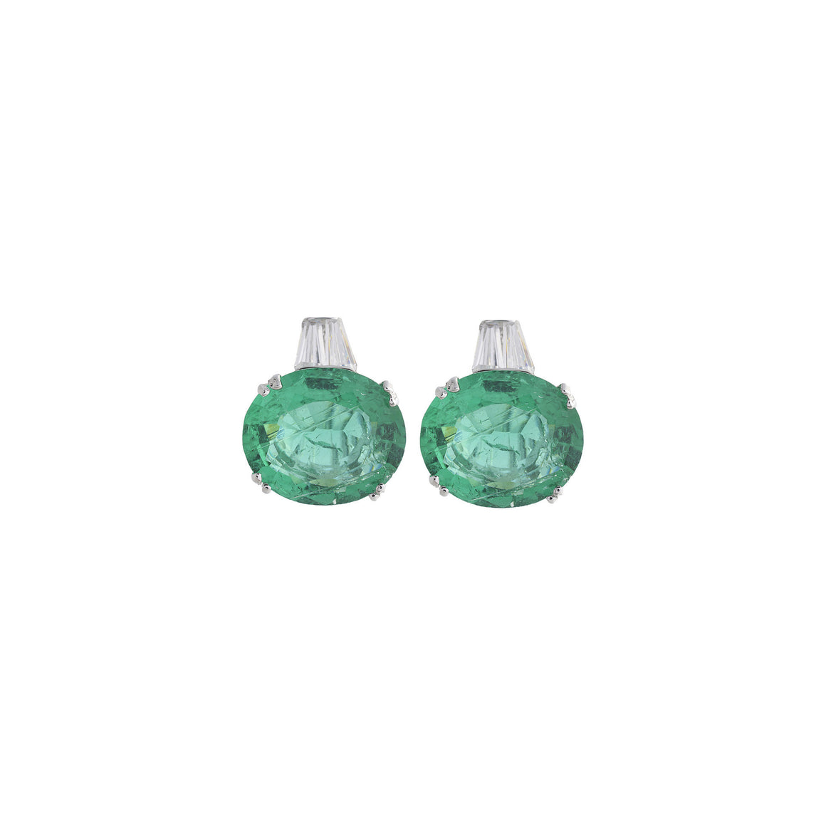 Amishi - Lopes Silver Polished Silver Earring