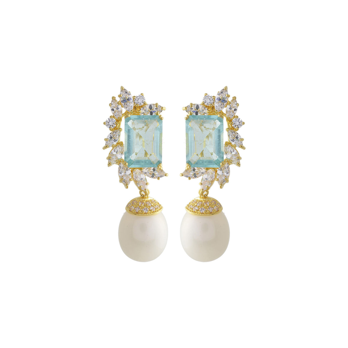 Amishi - Sammy Gold Plated Crystal Earrings