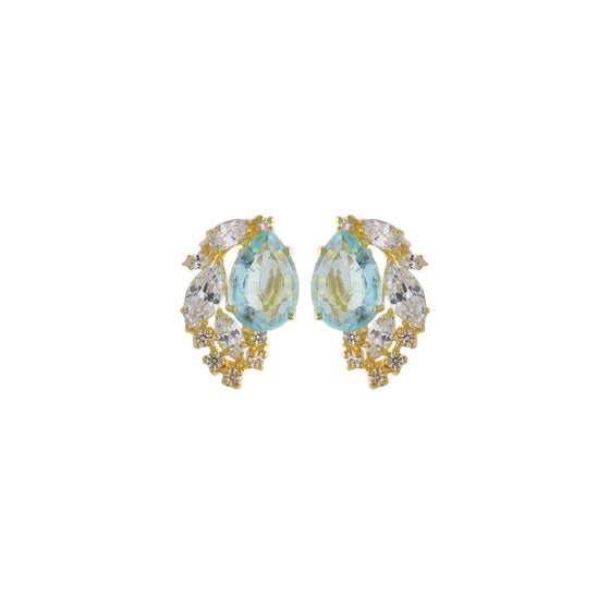 Amishi - Olivy Gold Plated Handcrafted Earrings