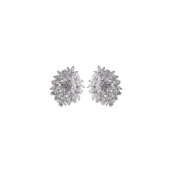 Amishi - Estelle Silver Light-Catching Earrings