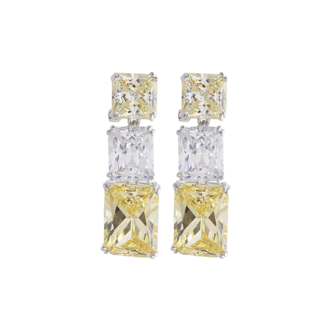 Amishi - Zirconia Chandelier Drop Earrings