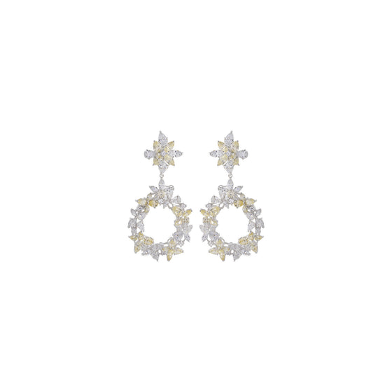 Amishi - Marty Silver Chandelier Silver-Plated Earrings