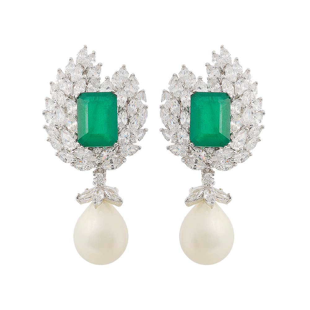 Amishi - Delle Chandelier Crystal Earrings