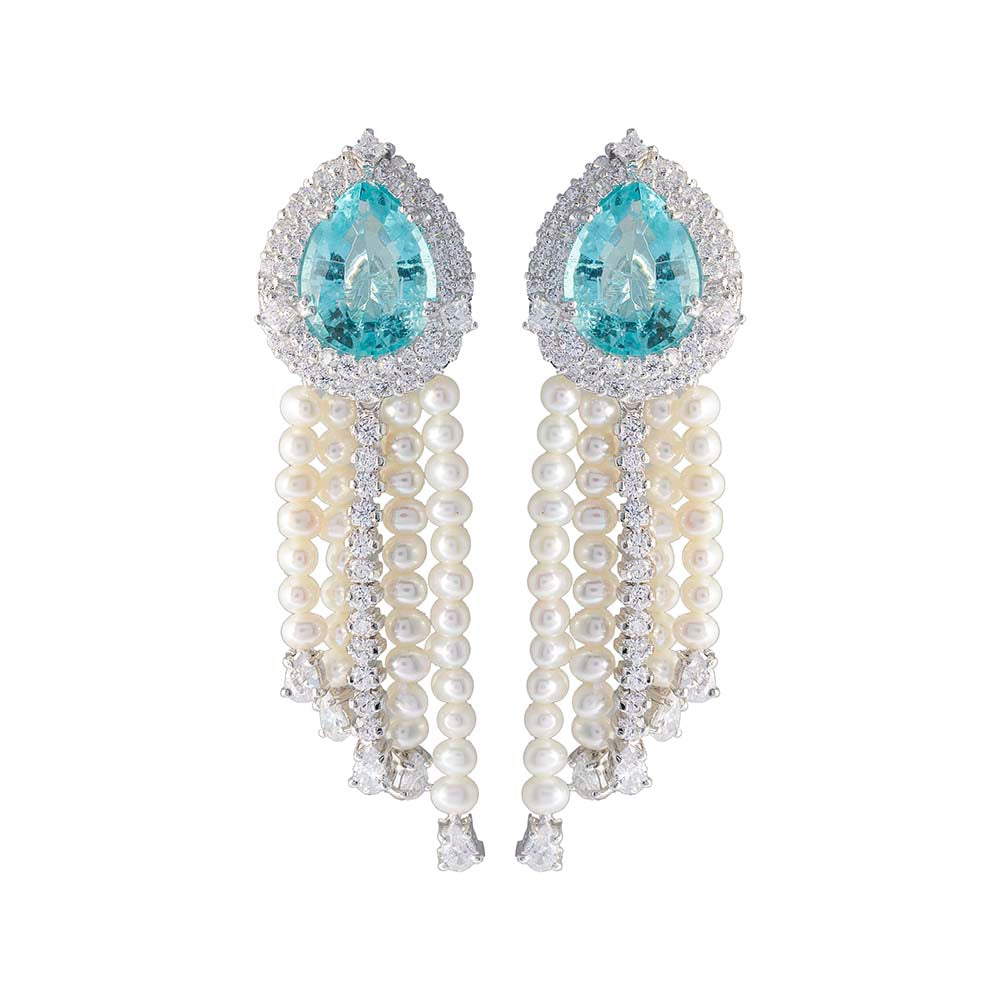 Amishi - Perla Chandelier Crystal Drop Earrings