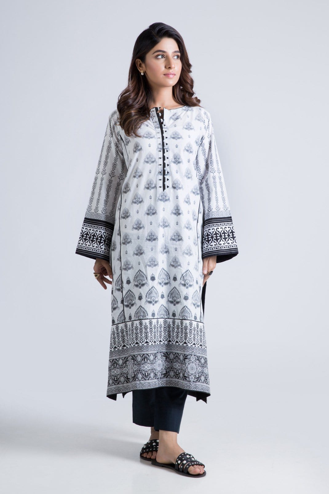 Bonanza Satrangi - White Cool Gray - 1 Pc