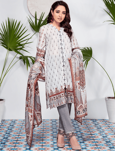 Khas Stores - Silver Grey Notorious Neutrals 3 PC - KLA - 9086 - Unstitched