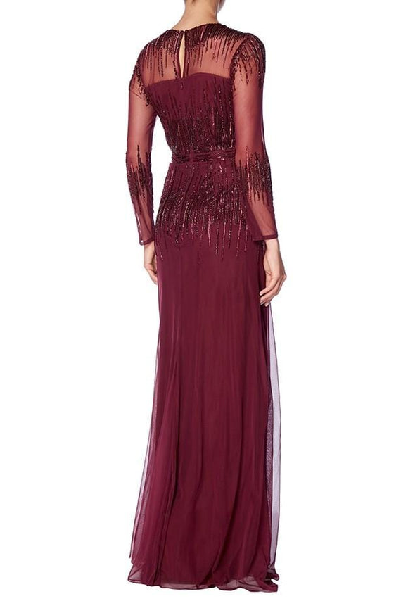 Raishma - Burgundy Laurel Gown