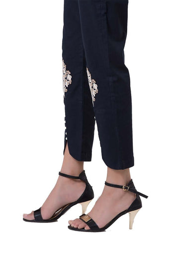 Bonanza Satrangi - Navy Blue Cigarette Pants