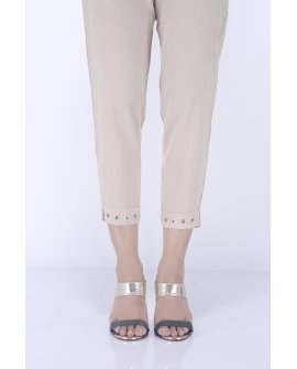 Ego - Beige Riveted Pants