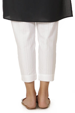 Ego - White Six Buttons Pants - LW0206