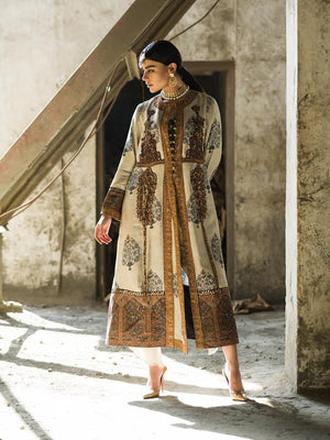 Shamaeel - Darogha Styled Coat with Silk Inner - M6-B