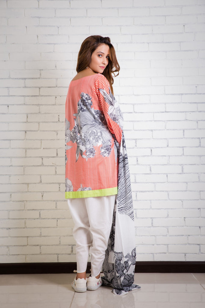 Alkaram Studio - Red Lawn Printed Suit