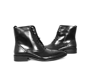 Mochi Cordwainers - Black Medici Ankle Boots