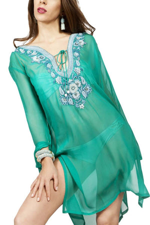 Amishi - Mint Green Beatrice Kaftan