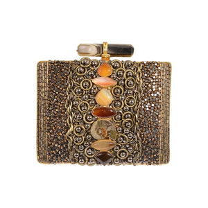 Amishi - Sheyla Crystal Box Clutch