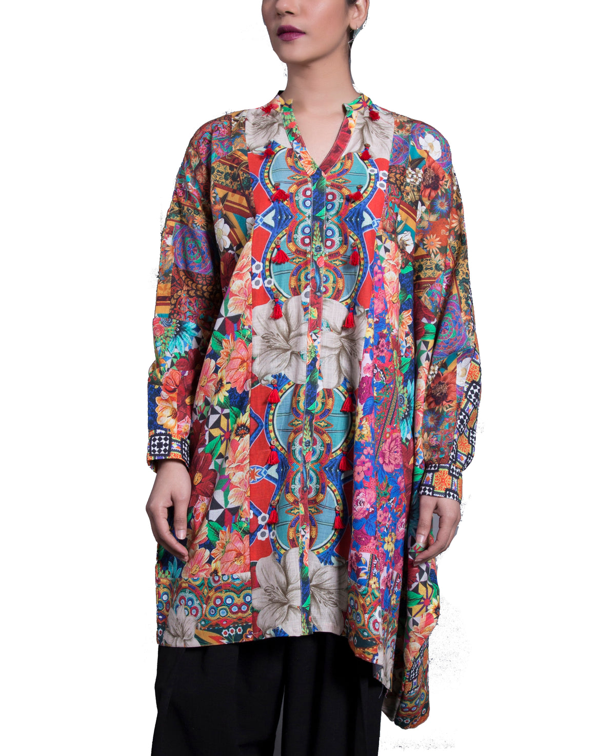 Generation - Multi Color Eclectic Folk Tunic