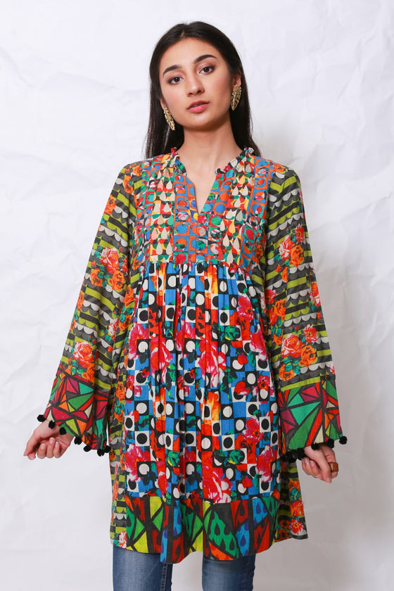 Generation - Multicolor Whatsup Warhol tunic