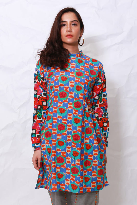 Generation - Multicolor Whatsup Warhol String Tie Tunic