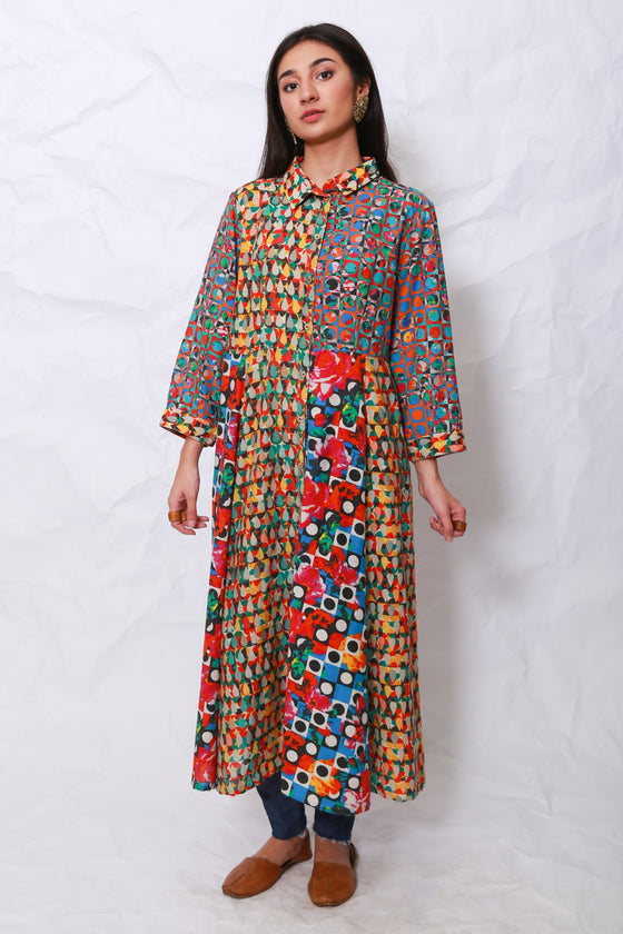 Generation - Multicolor Whatsup Warhol tunic dress