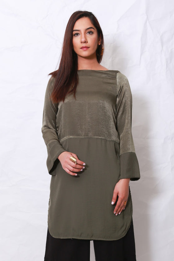 Generation - Army Green Organic Modernity Tunic