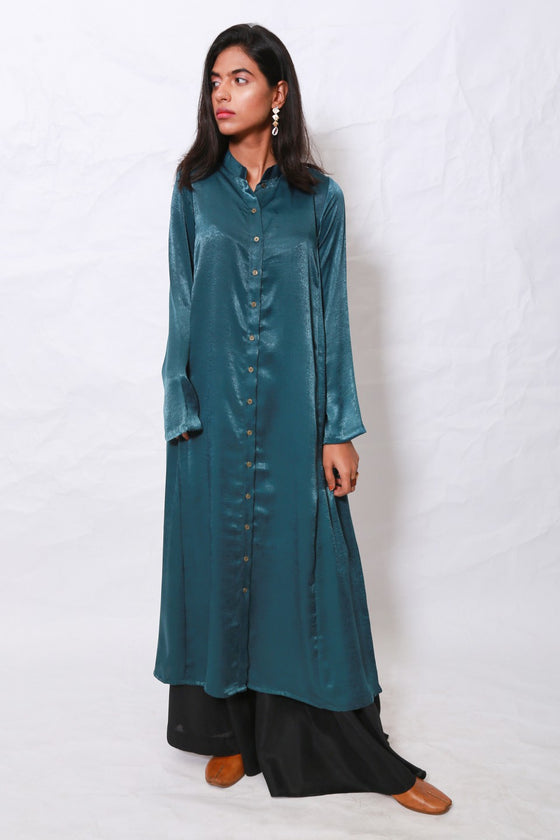 Generation - Green Organic Modernity Front Open Shirt