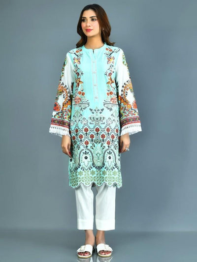 Limelight - Aqua Embroidered Lawn Suit - 2 PC - P1687