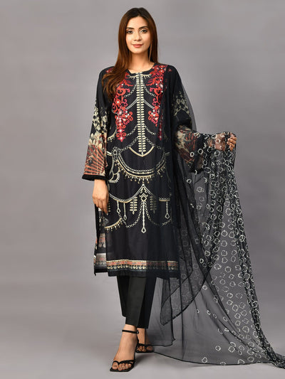 Limelight - Black Embroidered Suit - 2 PC - P3355