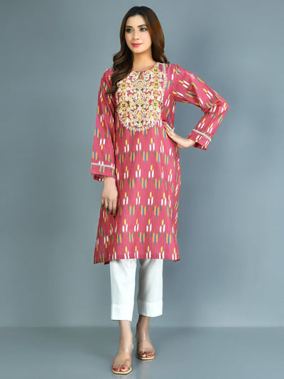Limelight - Pink Embroidered Lawn Shirt - 1 PC - P3358SH