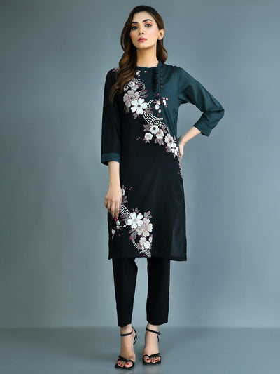 Limelight - Black Printed Lawn Shirt - 1 PC - P3488